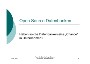 Open Source Datenbanken