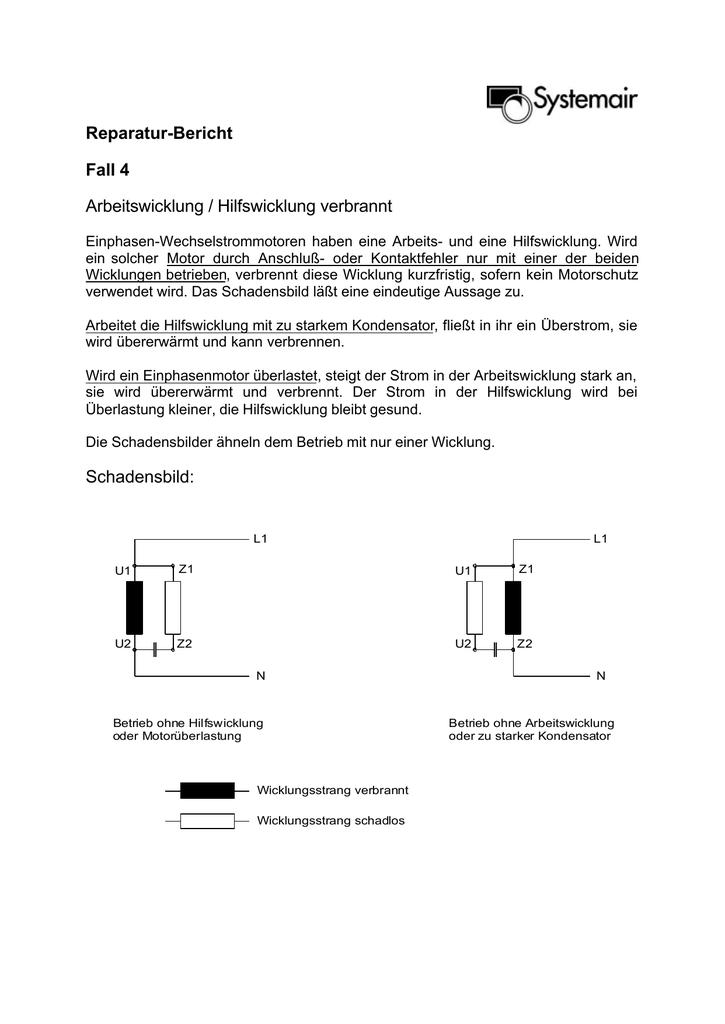 Hilfswicklung verbrannt - antriebstechnik.fh