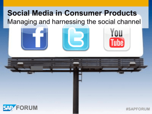 Social Media in Consumer Products