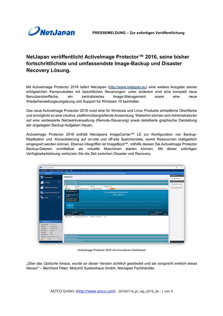 09ec83e5f3 NetJapan veröffentlicht ActiveImage Protector™ 2016, seine