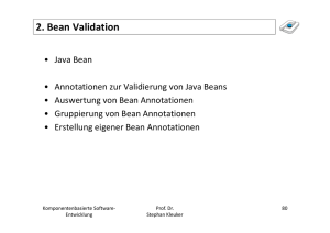 2. Bean Validation