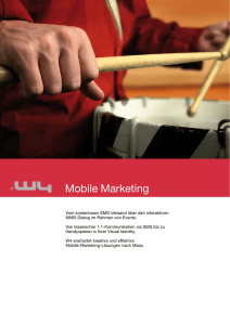 Mobile Marketing - W4 - Marketing Meets Information Technology