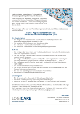 Senior Applikationsentwickler/in Klinische