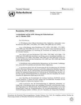 Sicherheitsrats-Resolution 1943 (2010)