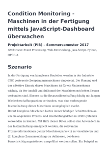 Condition Monitoring - Maschinen in der Fertigung mittels JavaScript