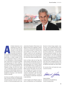 Porsche Consulting – DAS MAGAZIN national klare Standards