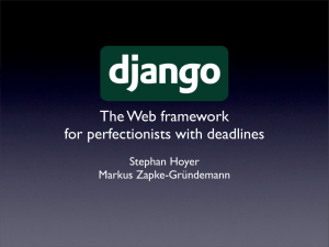 The Web framework for perfectionists with deadlines