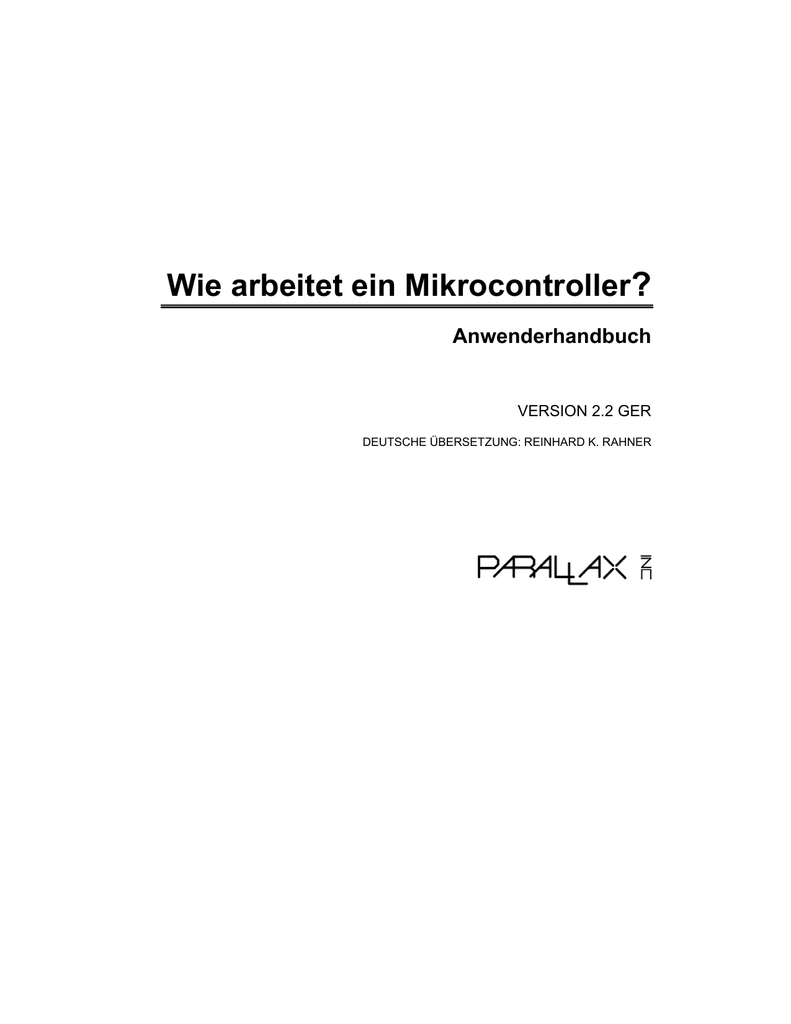 Wie arbeitet ein Mikrocontroller? on