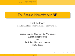 The Boolean Hierarchy over NP