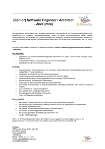 (Senior) Software Engineer / Architect - Java