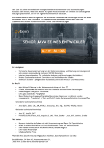 senior java ee web entwickler