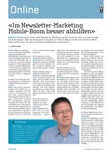 M+K 8/13 / Im Newsletter-Marketing Mobile