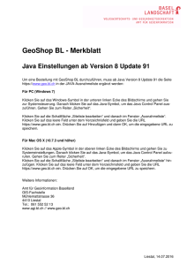 Merkblatt ab Java 8 Update 91