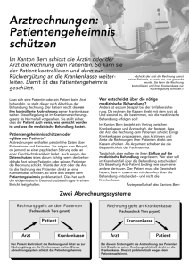 Tiers payant: Flyer der BEKAG zur Patienteninformation