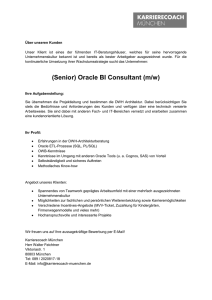 (Senior) Oracle BI Consultant (m/w) - Karrierecoach