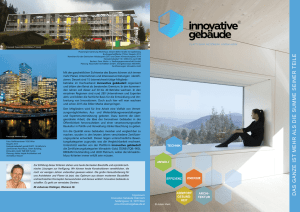 - Innovative Gebäude