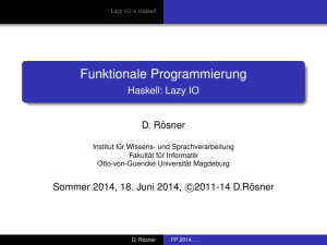 Funktionale Programmierung - Haskell: Lazy IO
