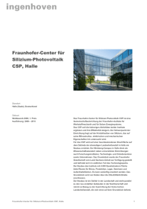 Fraunhofer-Center für Silizium