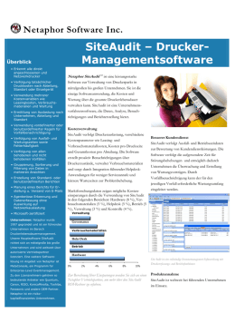 SiteAudit Datenblatt - SysPac IT Solutions