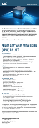 senior software entwickler (m/w) c#, .net