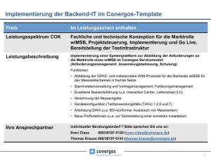 Implementierung der Backend-IT im Conergos