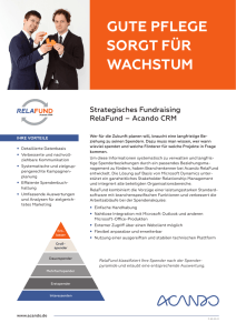 Fundraising Software RelaFund Flyer