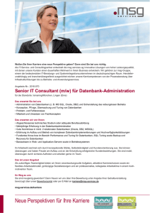 Senior IT Consultant (m/w) für Datenbank