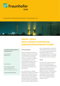 SMART GRIDS: INTELLIGENTE ELEKTRISCHE