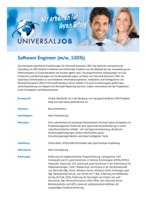 Software Engineer (m/w, 100%) - Universal-Job