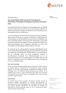 Aus Unister Media GmbH wird Ad Up Technology AG Advertising