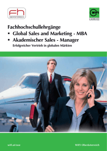 Global Sales and Marketing - MBA
