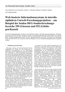 Web-basierte Informationssysteme in interdis