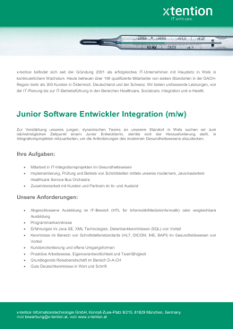 Junior Software Entwickler Integration (m/w)