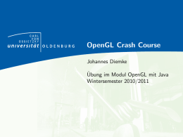 OpenGL Crash Course