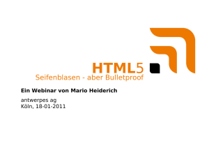 Webinar HTML5 Security