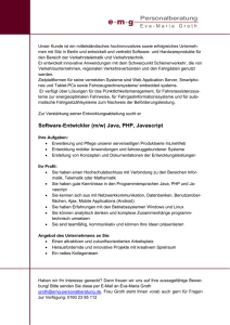 Software-Entwickler (m/w) Java, PHP, Javascript