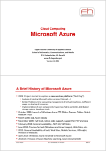 Microsoft Azure - elearning.fh