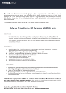 Software Entwickler/in – MS Dynamics NAVISION (m/w)