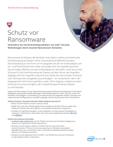 Technical Brief: How to Protect Against Ransomware