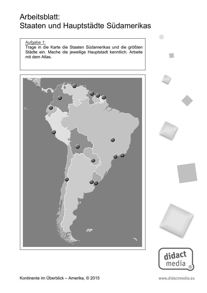 Ungewöhnlich Südamerika Arbeitsblatt Ideen - Super Lehrer ...