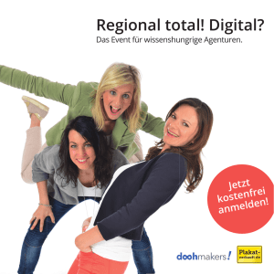 Regional total! Digital? - Plakat