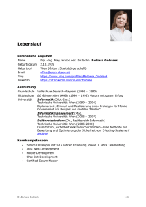Lebenslauf - WordPress.com