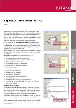 ExpandIT Table Optimizer 7.0