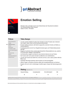 Emotion Selling - one