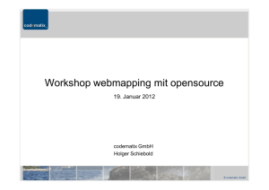 Workshop webmapping mit opensource