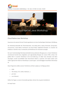 Cloud Native Java Workshop