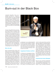 Burn-out in der Black Box