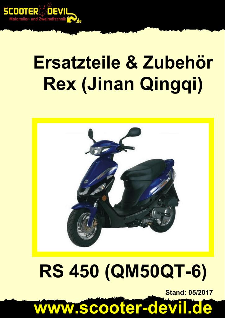 Qingqi A REX RS450 Typ: QM50QT-6 Vergasernadel mit Clip