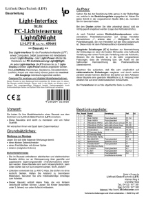 Light-Interface PC-Lichtsteuerung Light@Night