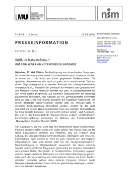 presseinformation - Nanosystems Initiative Munich